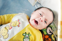 New born girl looking Royalty Free Stock Photography