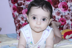 Baby girl staring  Stock Image