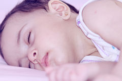 sleeping baby girl  Royalty Free Stock Image