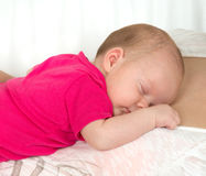 New born Infant child baby sleeping Royalty Free Stock Photography