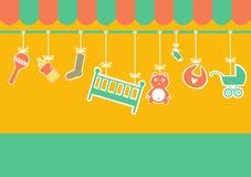 New born shop ,  illustrations Royalty Free Stock Photos