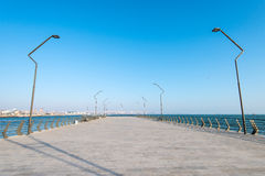 New Boulevard in Baku Ag Sheher Royalty Free Stock Photos