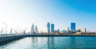 New Boulevard in Baku Ag Sheher Royalty Free Stock Photography