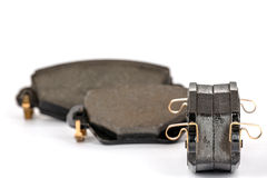 Brake pads. New brake pads for the automotive industry Royalty Free Stock Photo