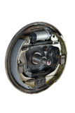 New brake pads and cylinder brake drum (isolated) Royalty Free Stock Photos