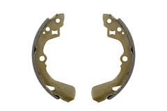 New brake pads drum brake (isolated) Stock Photography