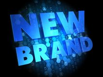 New Brand on Dark Digital Background. Royalty Free Stock Image