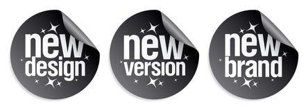 New Brand stickers. Stock Photo