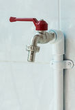 New brass faucet royalty free stock photos