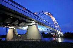 New Bratislava bridge in night Stock Images