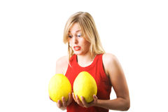 New breast tryout Royalty Free Stock Photos