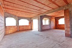 New brick construction interior Stock Photos
