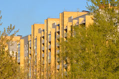 New brick high-rise buildings in the new residential district of Royalty Free Stock Photography