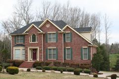 New brick home. Brick house Royalty Free Stock Photo
