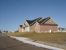 New Brick Home. New large single family executive brick home stock photos