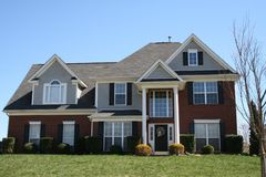 New brick house. Brick house Stock Photo