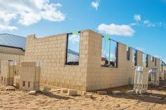 New brick house construction Stock Photo