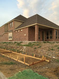 New brick  house under construction Stock Image
