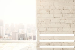 New brick interior with blank wall Royalty Free Stock Images