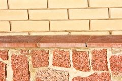 New brick and stone wall texture Royalty Free Stock Images