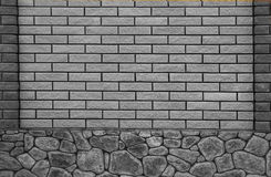 New  brick wall in a background image Stock Images