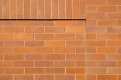 A new brick wall. A new brick wall with corner decoration Royalty Free Stock Images