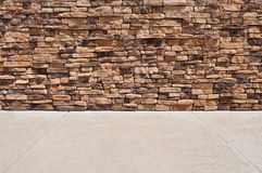 New Brick Wall Sidewalk Stock Images