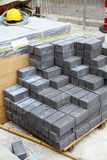 New bricks at the construction site Royalty Free Stock Photography