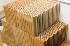New bricks for construction are in stock Royalty Free Stock Images
