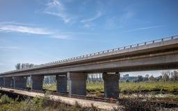 New bridge across Danube in Belgrade, Serbia. Royalty Free Stock Photography