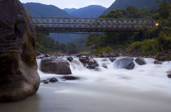 New bridge across Madi Khola Stock Image