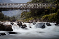 New bridge across Madi Khola Royalty Free Stock Photos