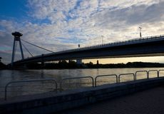 New Bridge, Bratislava. New Bridge in Bratislava, Slovakia Stock Photos