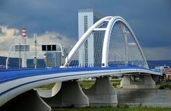 New bridge in Bratislava. Bridge Apollo over Danube river in Bratislava - Slovakia Royalty Free Stock Images
