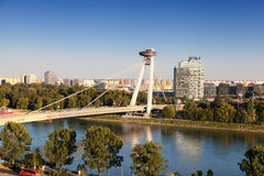 New bridge in Bratislava Royalty Free Stock Image