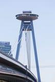 New bridge, Bratislava. Royalty Free Stock Photo
