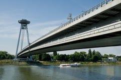 New bridge in Bratislava. New bridge over Danube river in Bratislava -  Slovakia Stock Photo