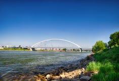 The new bridge. Bratislava. Slavakia Royalty Free Stock Image