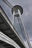 New bridge; Bratislava; Slovakia. Ufo restaurant; New bridge; Bratislava; Slovakia (HDR image Stock Image