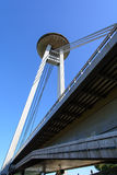 The new bridge of Bratislava Stock Image