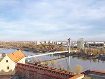 New Bridge, Bratislava. View of New Bridge, Bratislava, Slovakia Royalty Free Stock Images