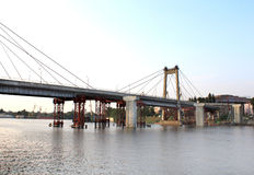New bridge is building. In Kiev, Ukraine Stock Photo