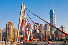 New bridge in Chongqing city stock image