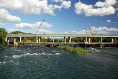 New Bridge Construction. Federal stimulus money at work with new bridge construction Royalty Free Stock Images