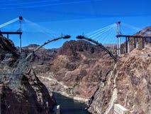 New Bridge construction at Hoover Dam Stock Photos