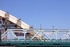 New bridge construction site Royalty Free Stock Photos
