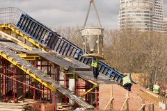 New bridge construction Stock Image