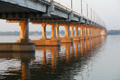 The New Bridge in Dnepropetrovsk Stock Images