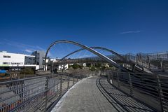 The new bridge at Holyhead Royalty Free Stock Photos