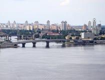 New bridge in Kiev, Ukraine Stock Image